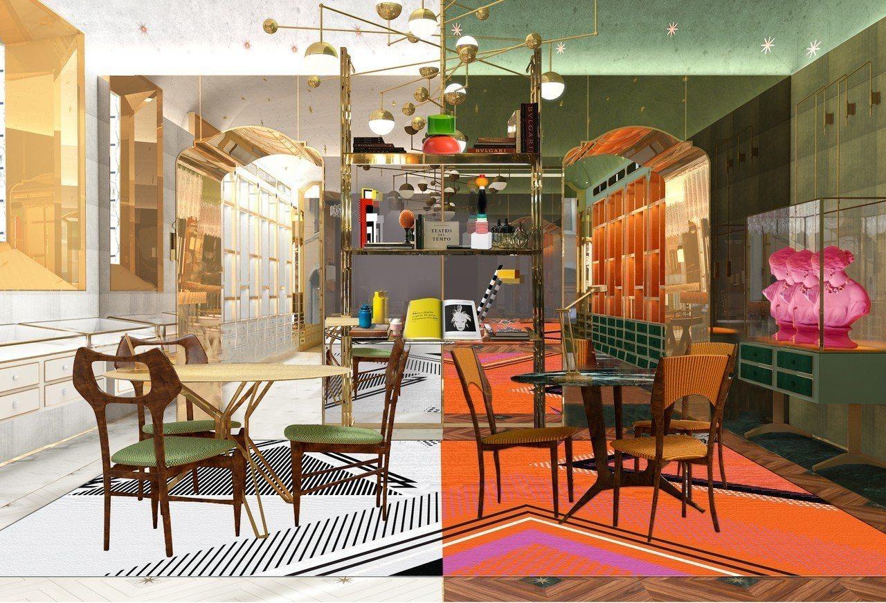 寶格麗羅馬總店POP Wishes店景顛覆傳統耶誕想像。圖/寶格麗提供