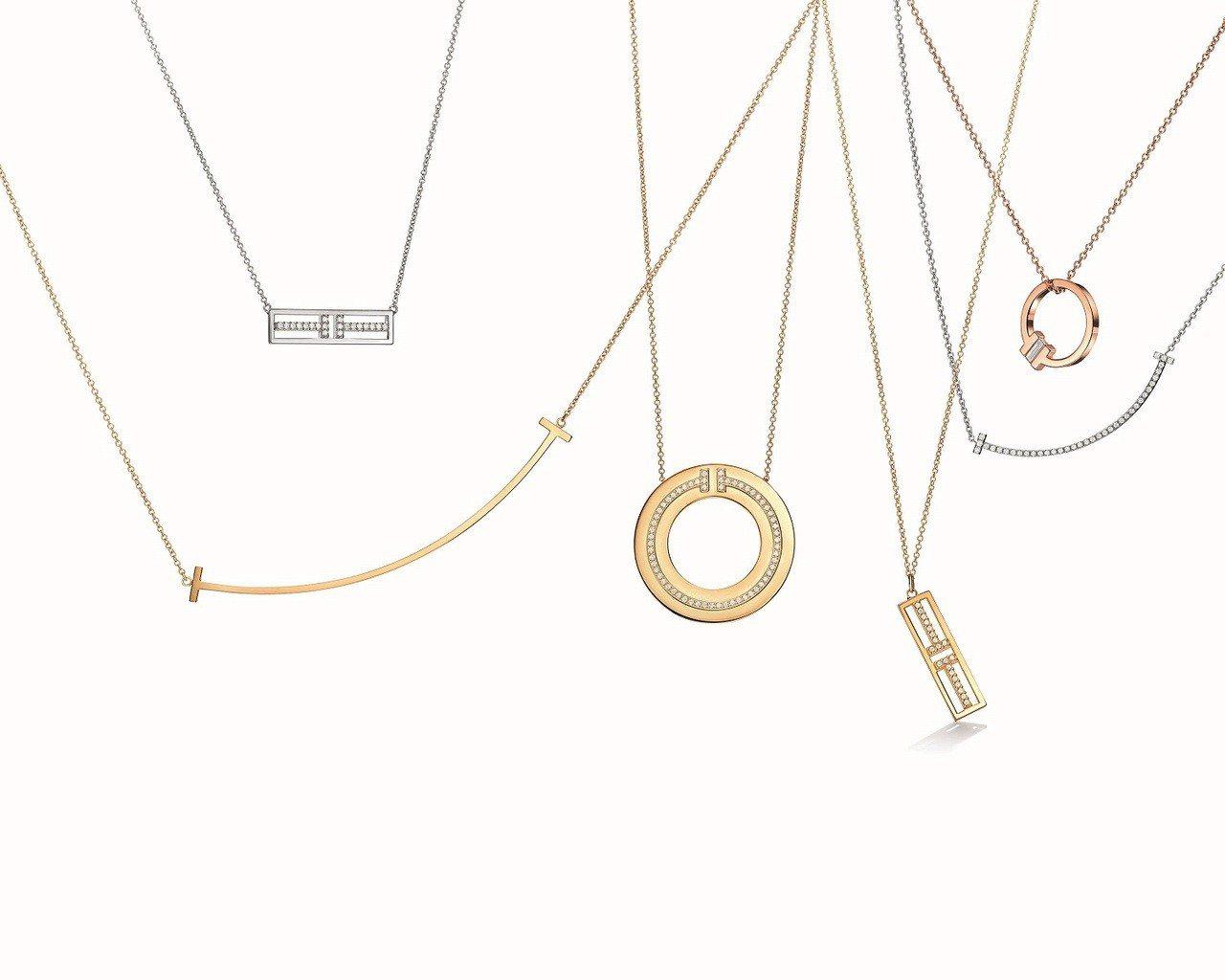 Tiffany T系列項鍊,35,500元起。圖/Tiffany提供