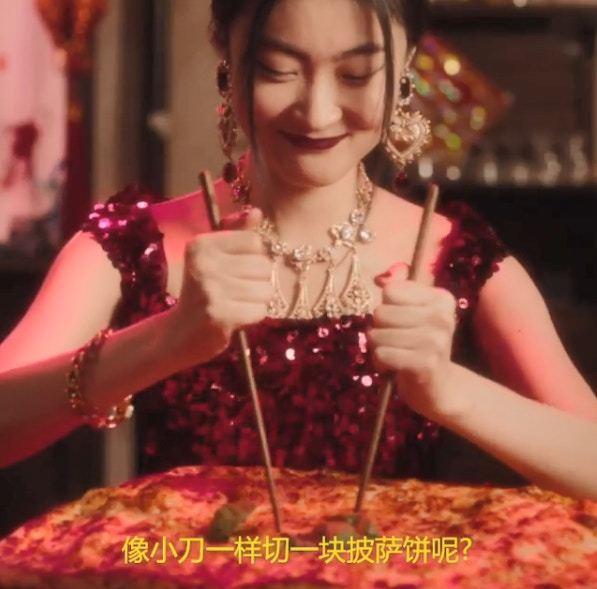 Dolce & Gabbana引爆爭議的影片截圖。圖/截自IG