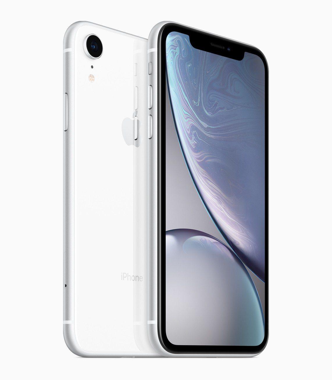 iPhone XR的6色中也有白色款。圖/摘自Apple官網