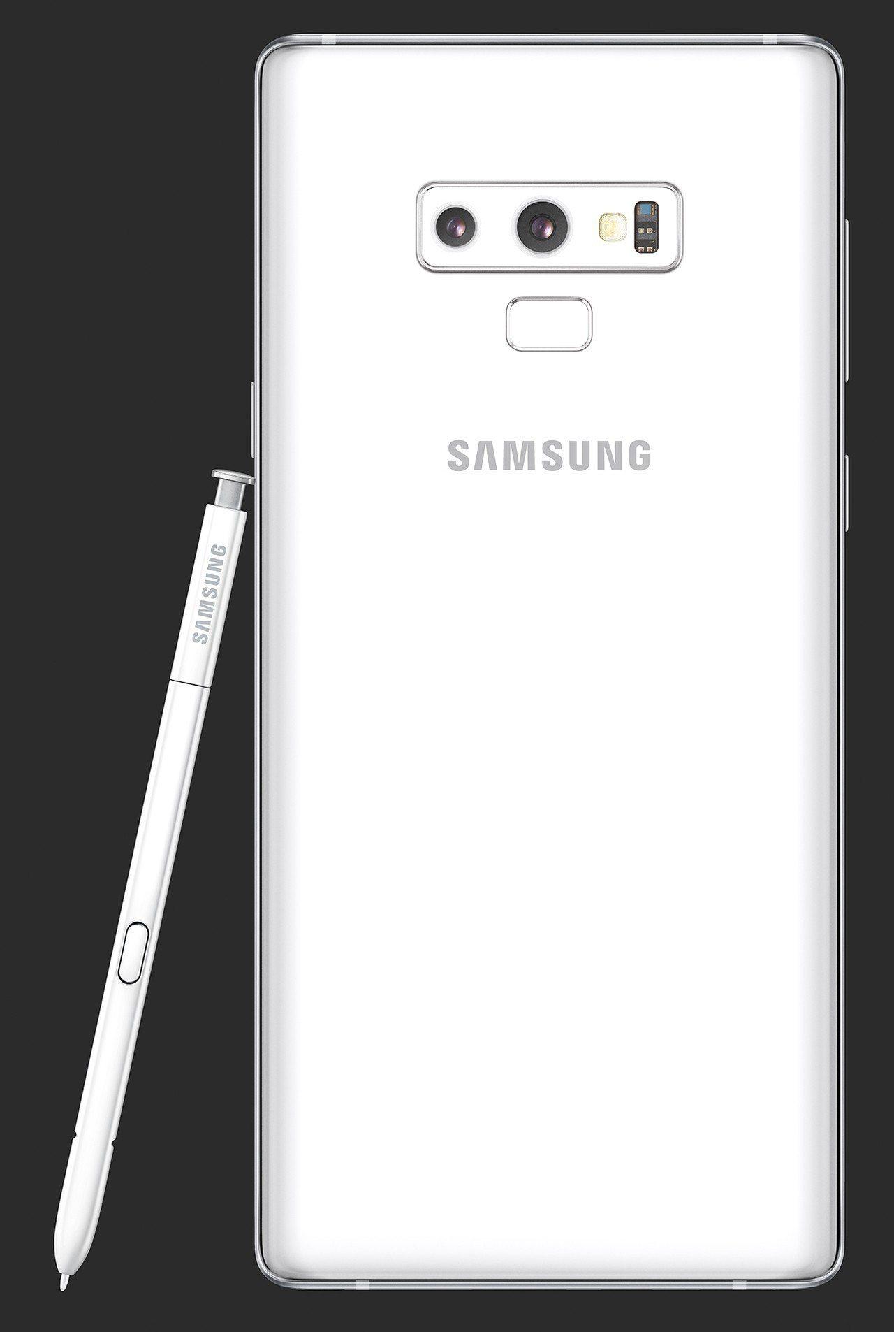 Samsung Galaxy Note9「初雪白」配有雪白色S Pen。圖/三星...