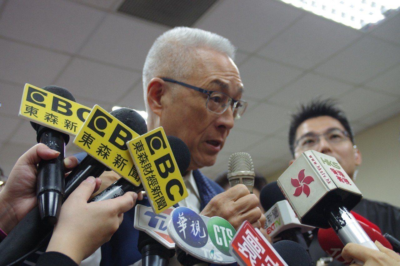 國民黨主席吳敦義。聯合報系記者程嘉文/攝影