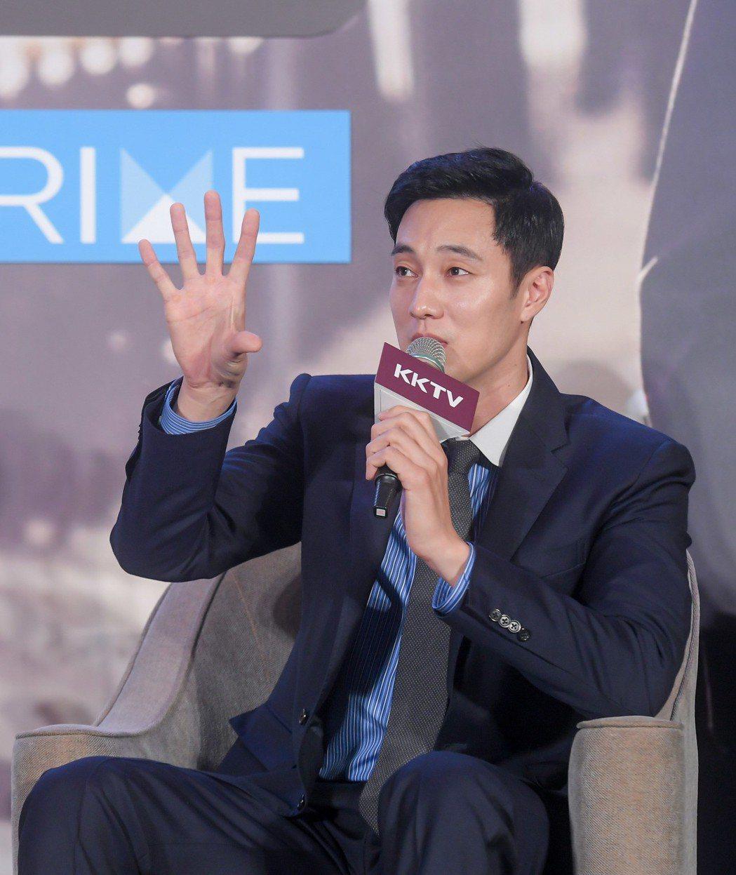 蘇志燮描述拍戲過程。記者李姿瑩╱攝影