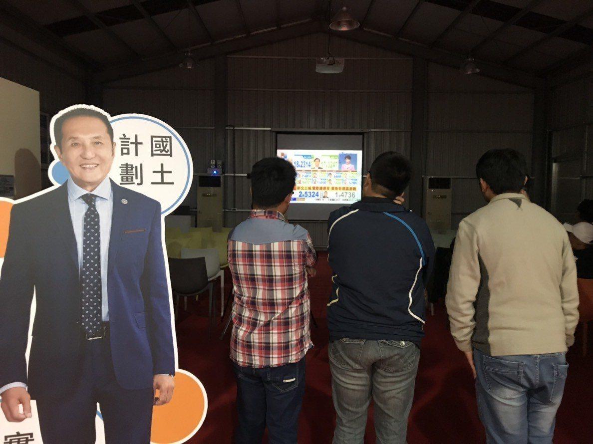 無黨籍台南市長候選人林義豐位在安平區的政見概念館,4點過後就有不少人聚集看開票。...