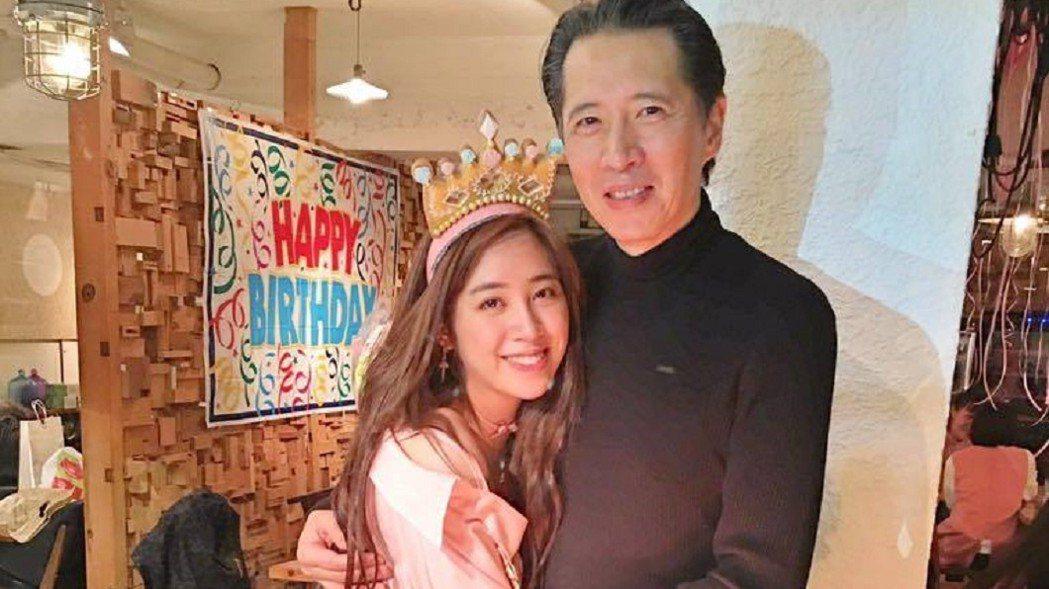 歐陽龍(右)與女兒歐陽妮妮(左)感情極好。圖/摘自臉書