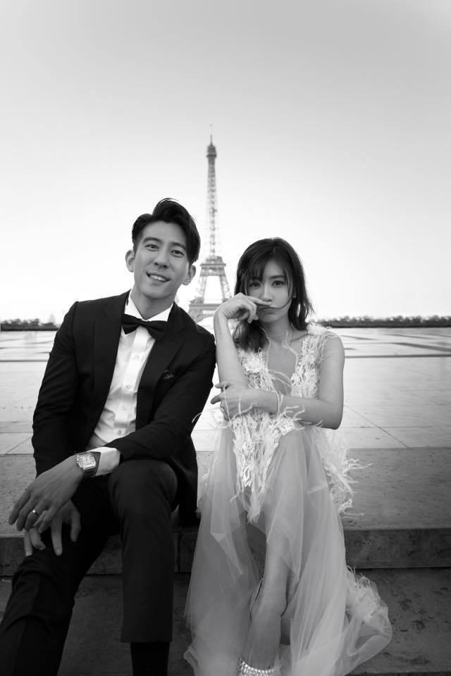 賈靜雯、修杰楷婚紗照浪漫。圖/摘自臉書