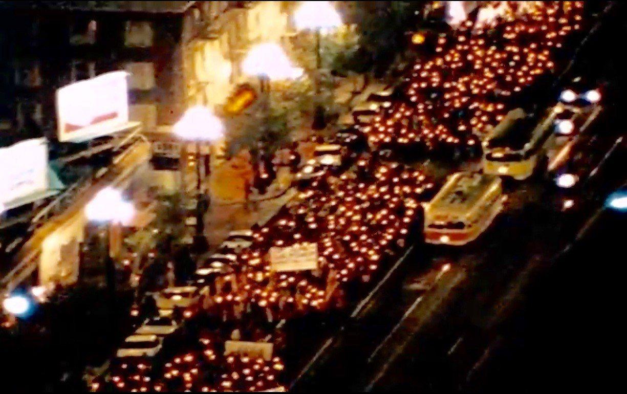 米克爾追思紀念依舊,同志平權抗爭不止。 世界日報記者李/攝影