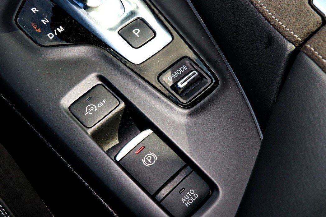 配備電子手煞車及動態調整。 記者陳威任/攝影