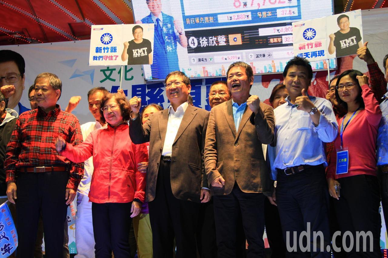 新竹縣長當選人楊文科以107877票拿下勝選,立委林為洲指出兩個原因。圖/本報資...