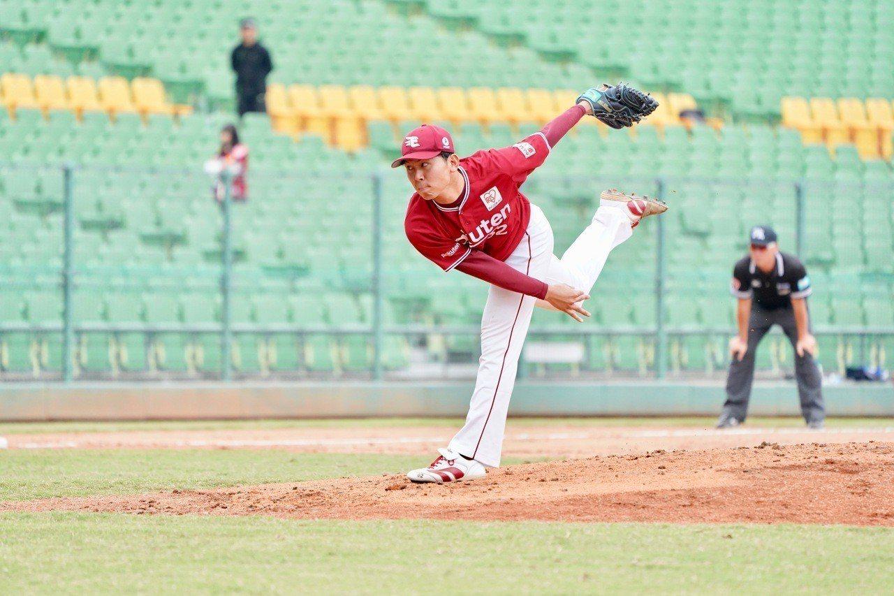 2018年亞洲冬季棒球聯盟,日職東軍先發投手西口直人。記者蘇志畬/攝影
