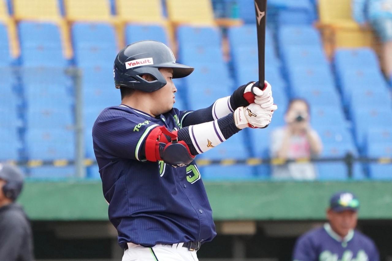 2018年亞洲冬季棒球聯盟,日職東軍野手村上宗隆。記者蘇志畬/攝影