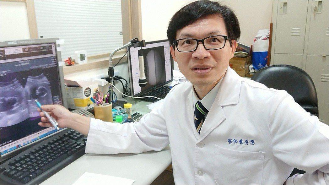 高市聯合醫院泌尿科主任蔡秀男說,他行醫20多年來首次遇到孕婦結石案例,所幸現在可...