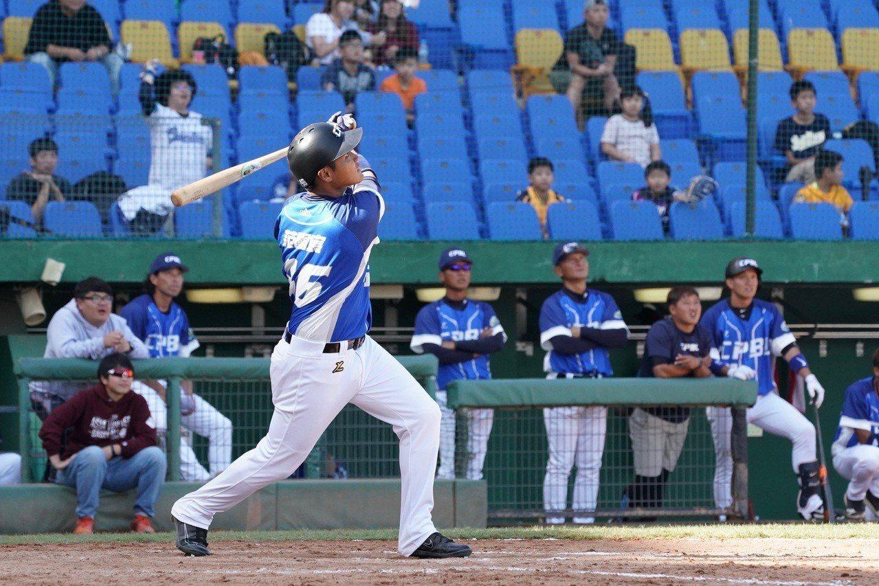 2018年亞洲冬季棒球聯盟,中職聯隊野手范國宸。報系資料照