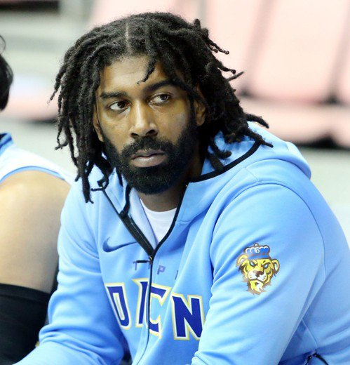 NBA選秀會「探花」梅奧連3場休兵。記者侯永全/攝影