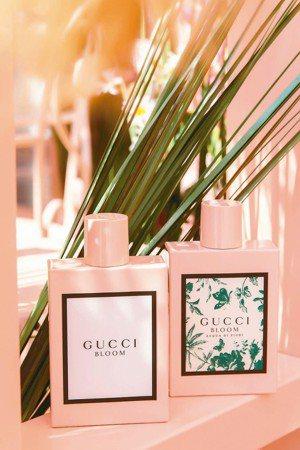 「花悅女性淡香精」和「花悅綠漾女性淡香水」。 GUCCI/提供