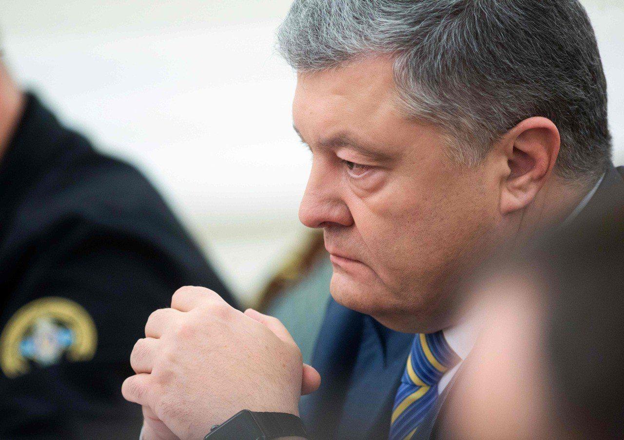 烏克蘭總統波洛申科(Petro Poroshenko)。 法新社