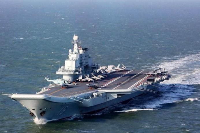 中共航母遼寧號。 圖/中共國防部網頁照片