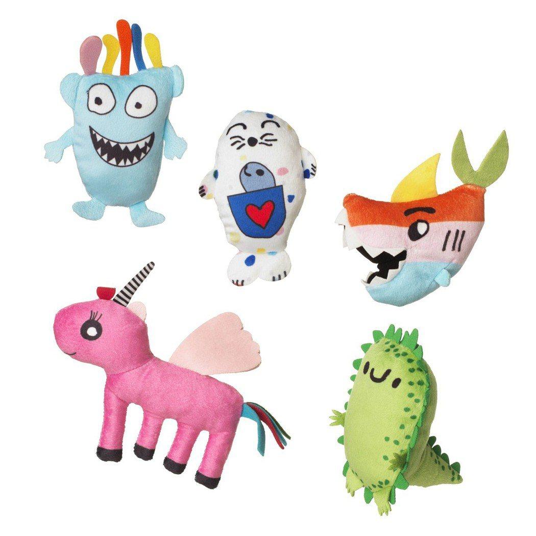 SAGOSKATT全新系列共有五個角色,即日起開始販售,所得將捐贈弱勢兒童。 ...