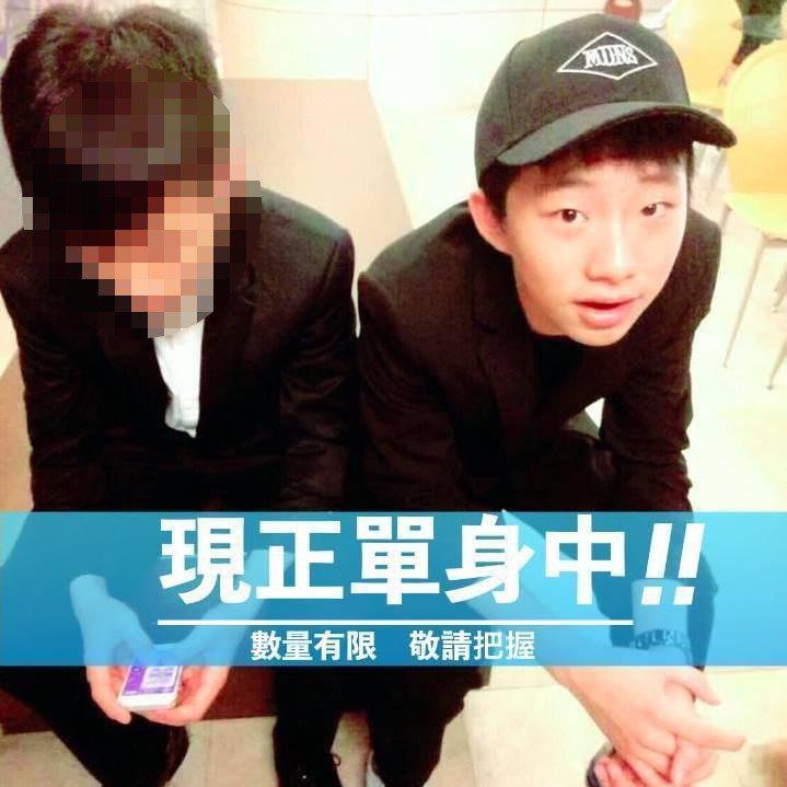 韓天(右)的臉書透露調皮性格。 圖擷自facebook