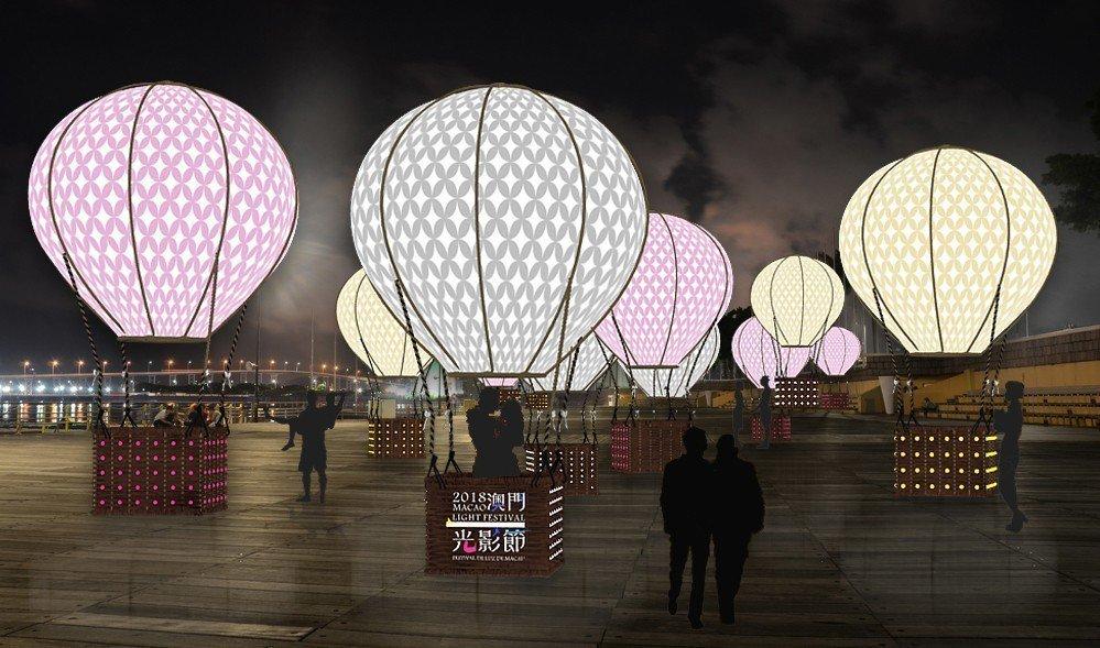 南灣湖水上活動中心的「時空熱氣球」。 圖/澳門旅遊局提供