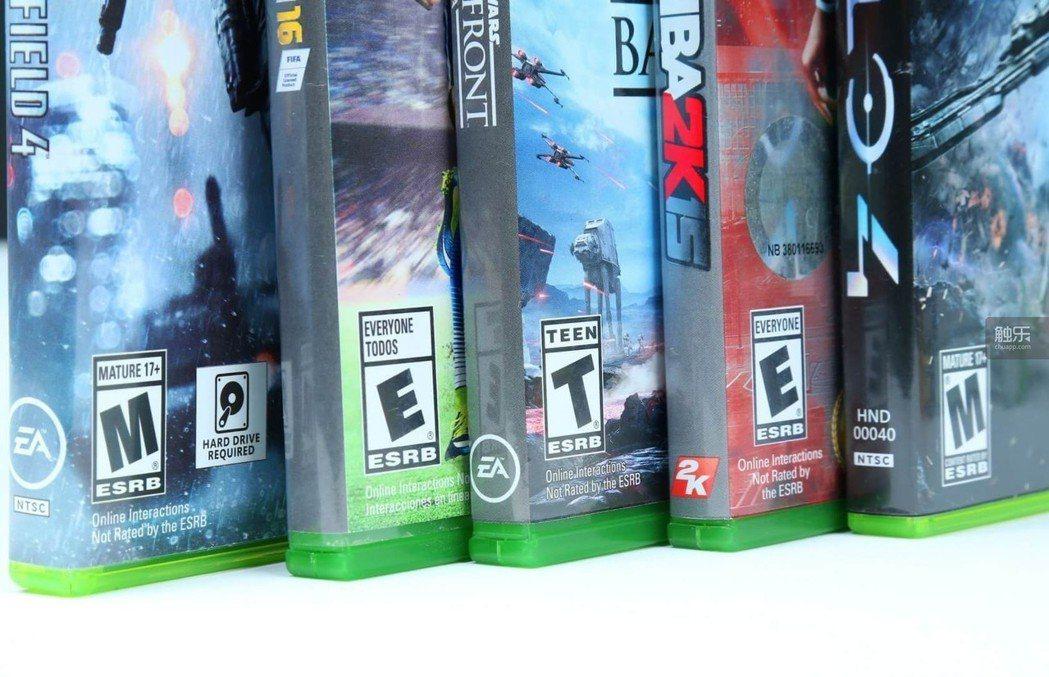 在北美發行的遊戲都能找到ESRB的分級標識