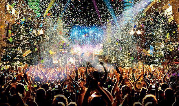 環球跨年派對。 圖/USJ官網