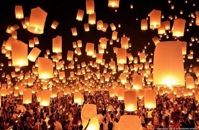 ▲泰國節日-泰國水燈節。(圖/攝影者:UrbanUrban_ru, Flickr...