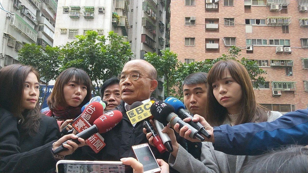 蘇貞昌無意黨主席,認為該由優秀中生代承擔。記者施鴻基/攝影