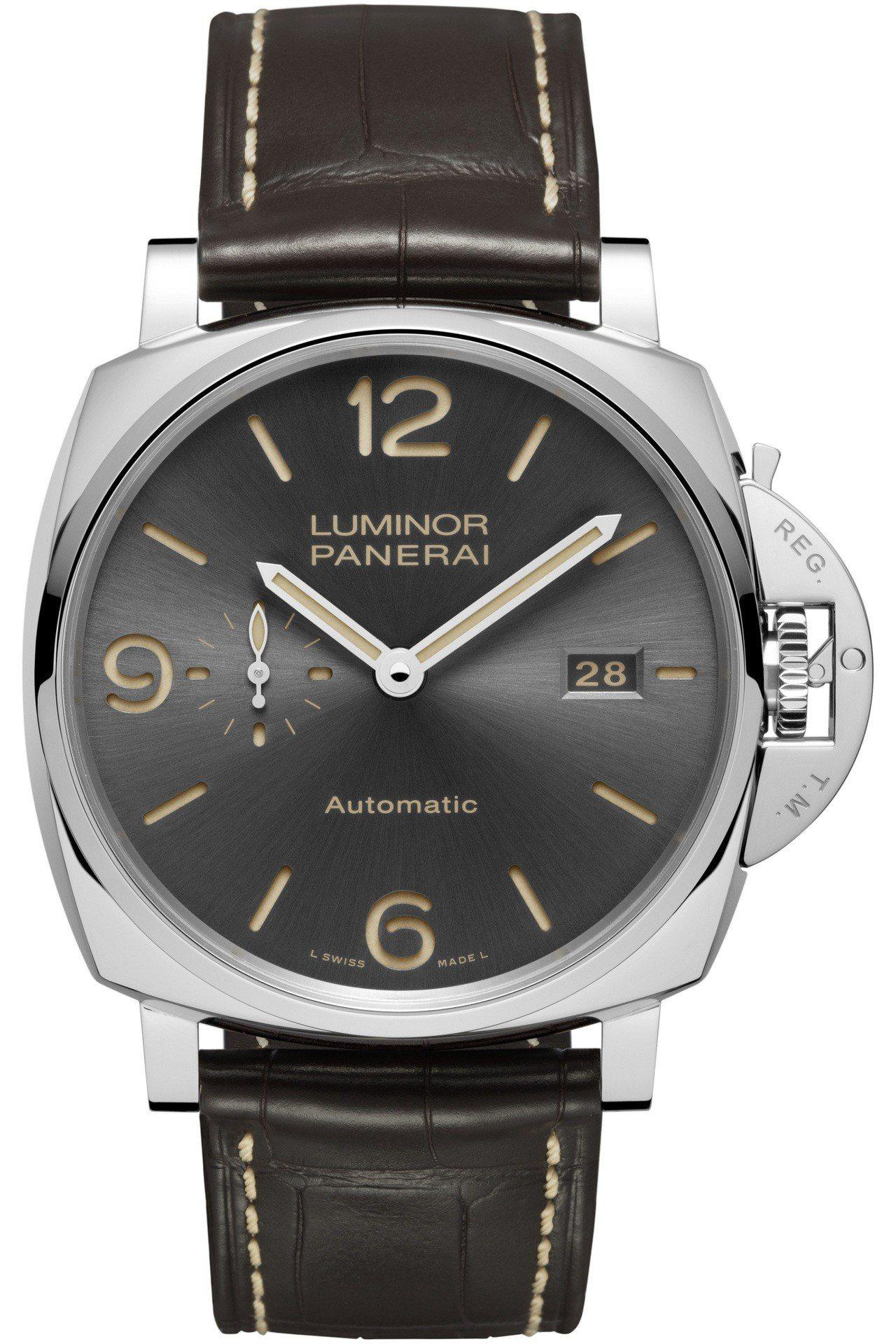 反町隆史配戴沛納海LUMINOR DUE 45毫米3日動力儲存自動精鋼腕表, 3...
