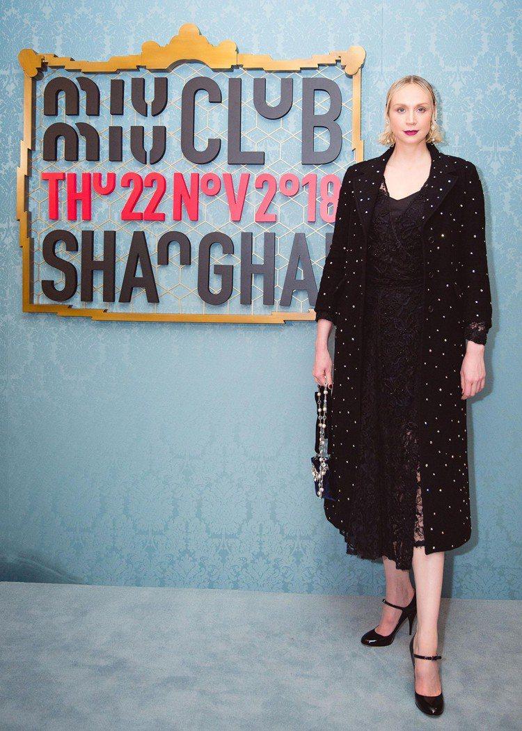 英國女星Gwendoline Christie。圖/MIU MIU提供