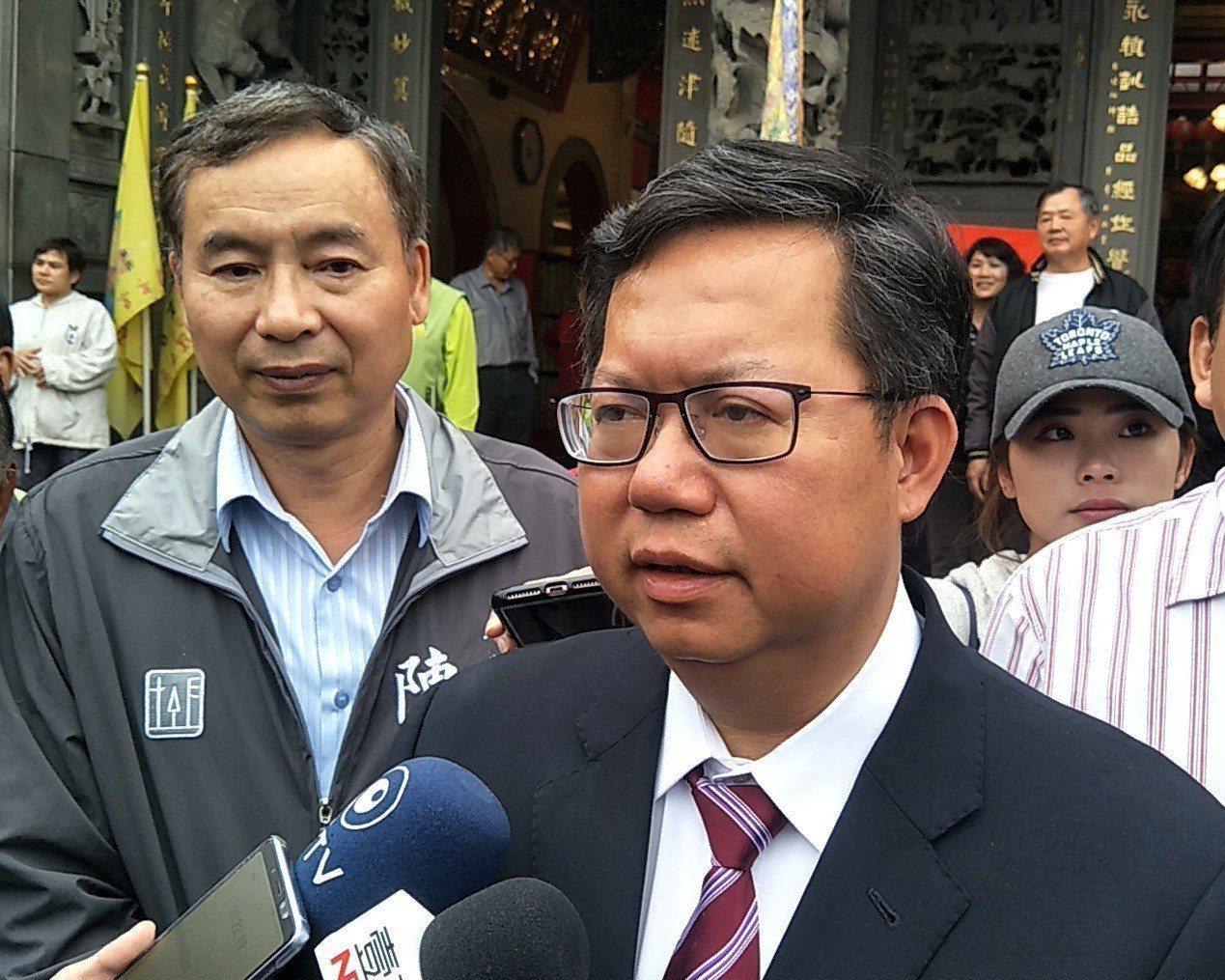 桃園市長鄭文燦(見圖)針對接任黨主席呼聲,他表示將等預算審完再與黨內意見領袖商量...
