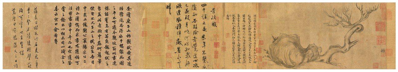 消失百年的蘇軾「木石圖」重現江湖。圖/香港佳士得提供