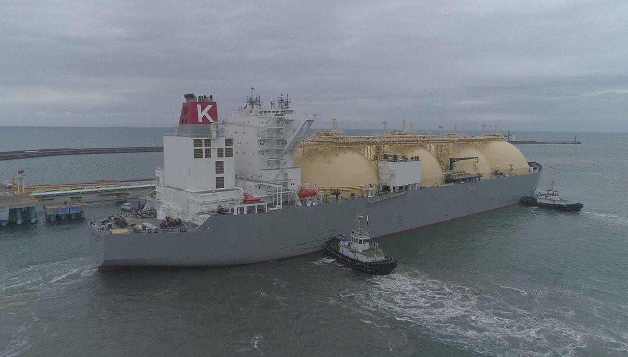 澳洲Ichthys液化天然氣載運專船「PACIFIC BREEZE」昨載運抵台,...