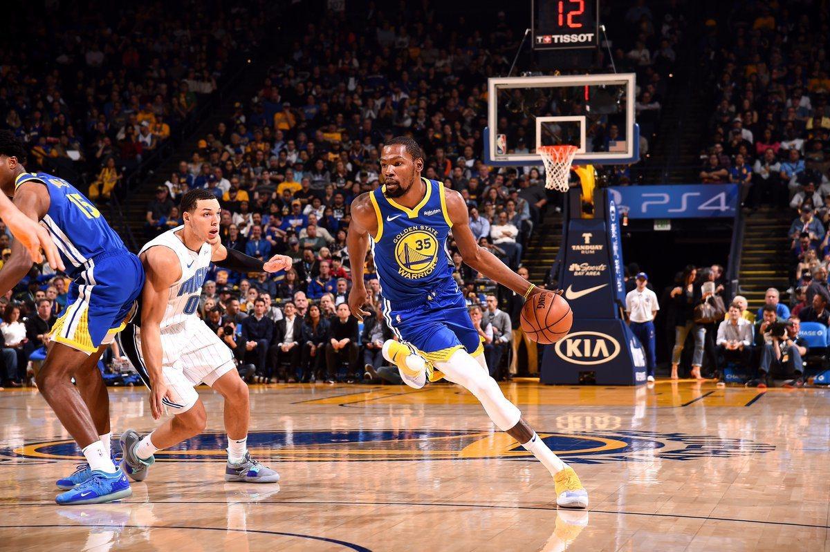 杜蘭特轟49分。 擷圖自NBA官方推特