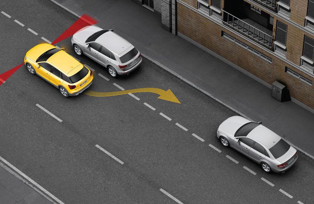 Audi Q2精彩無限版新增自動停車輔助系統。 圖/台灣奧迪提供
