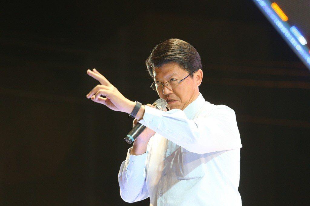 台南市議員兼國民黨中常委謝龍介。記者許正宏/攝影