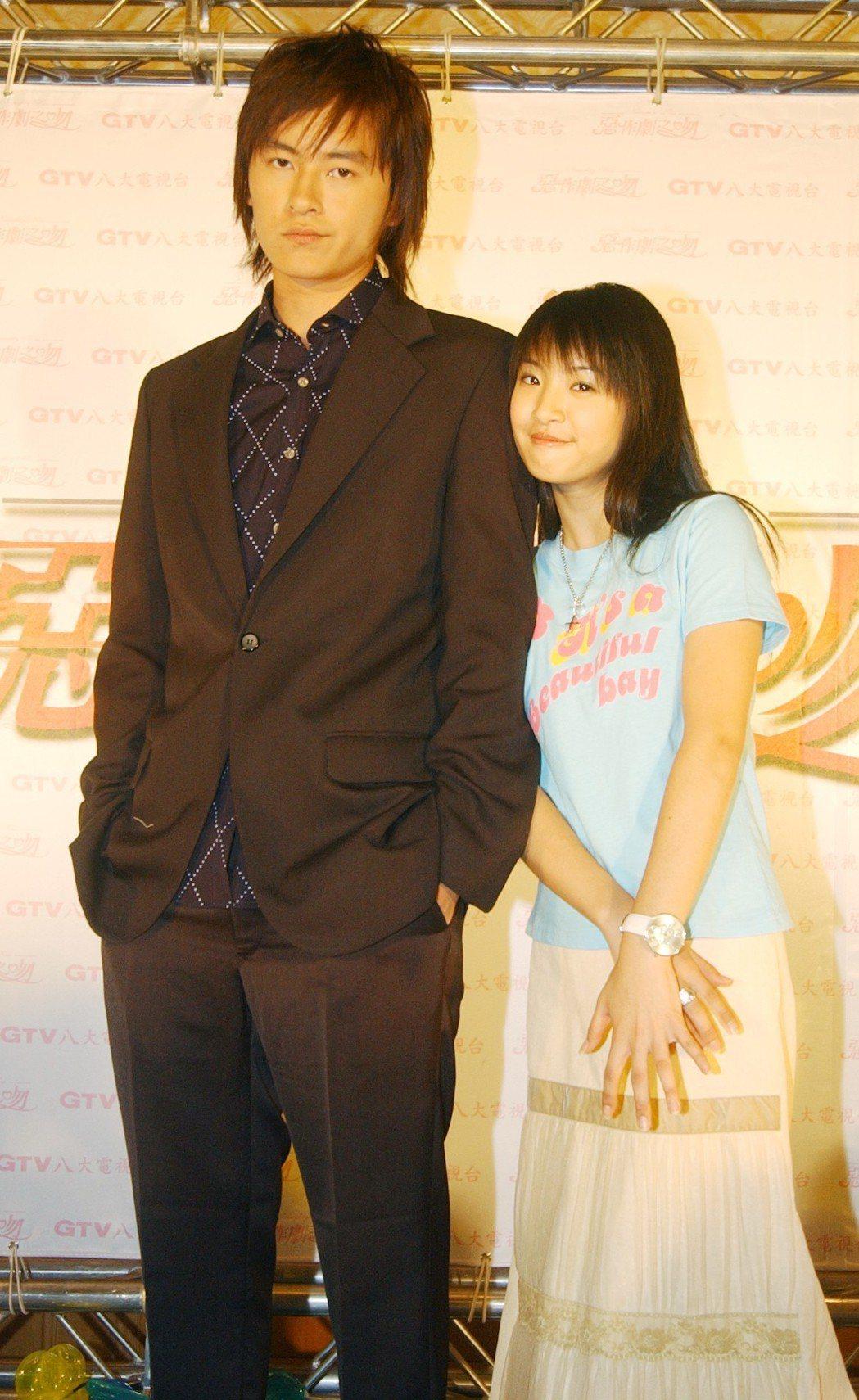 鄭元暢、林依晨當年演出「惡作劇之吻」。圖/聯合報系資料照