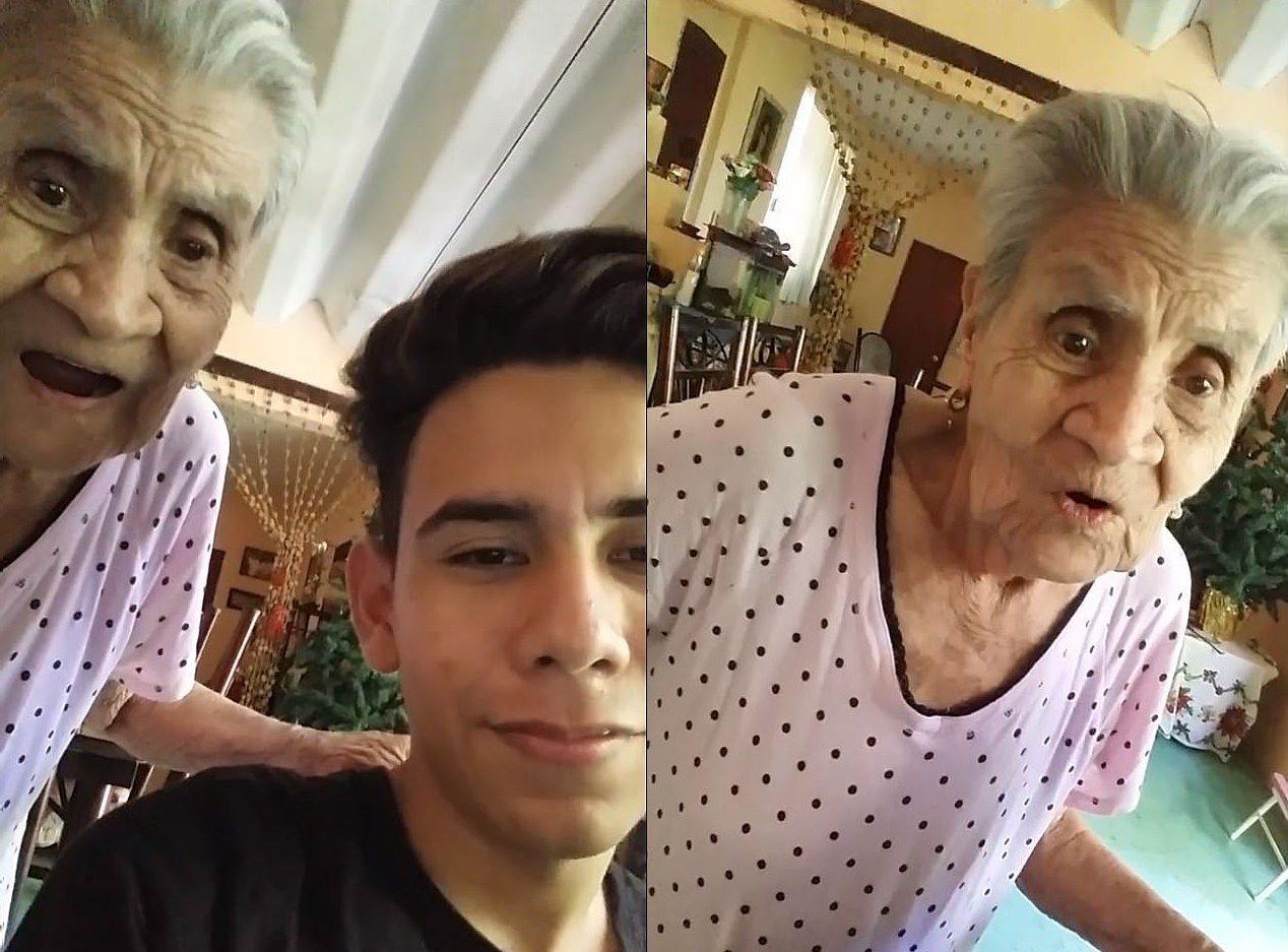 老奶奶吃驚的模樣全被錄了下來,網友大讚「超可愛」。photo credit:...