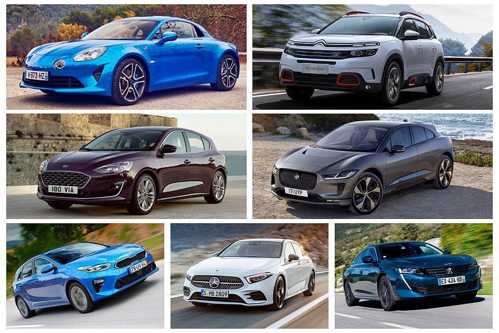最終入圍2019年歐洲年度風雲車的新車,除了賓士A-Class、Ford Focus、Jaguar I-Pace、Peugeot 508外,其餘國人都很陌生。 圖/各車廠提供