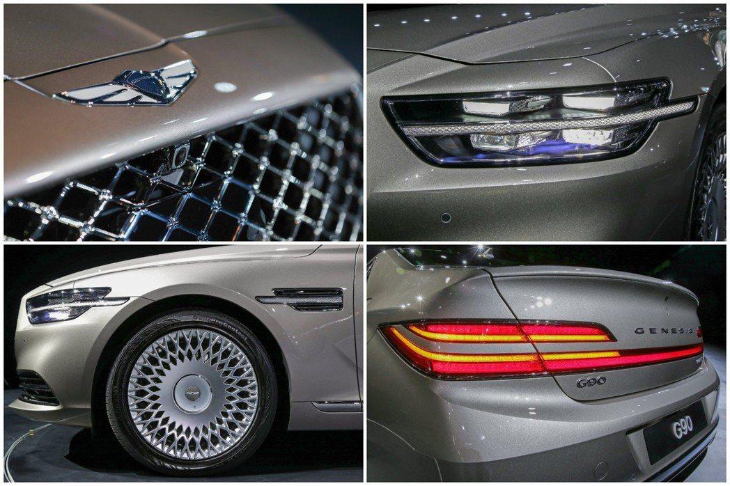 小改款Genesis G90在外觀造型的變動幅度相當大。 摘自Hyundai
