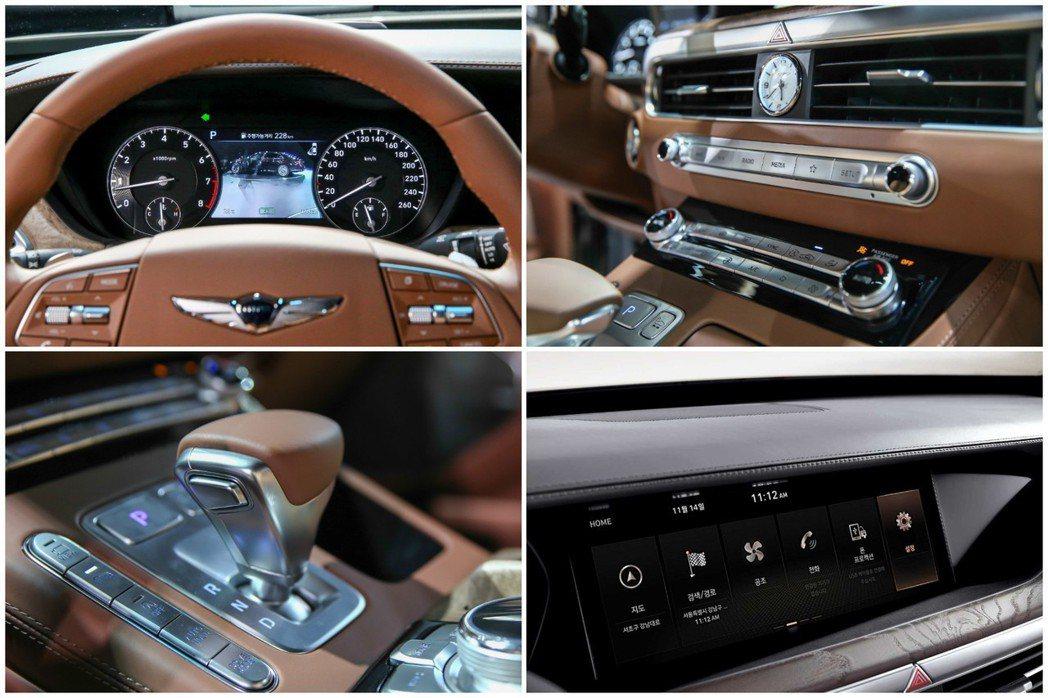 小改款Genesis G90內裝格局基本上未有太多的變動。 摘自Hyundai、...