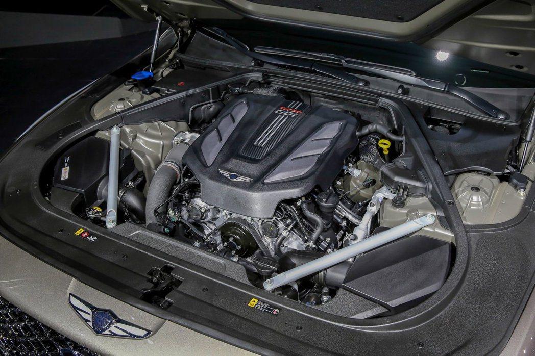 韓版小改款Genesis G90在動力配置上仍維持3.3升V6 T-GDi渦輪增...