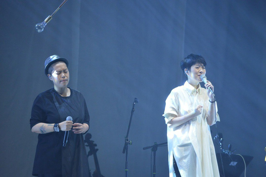 岑寧兒(右)邀請林二汶擔任嘉賓。圖/如此音樂提供