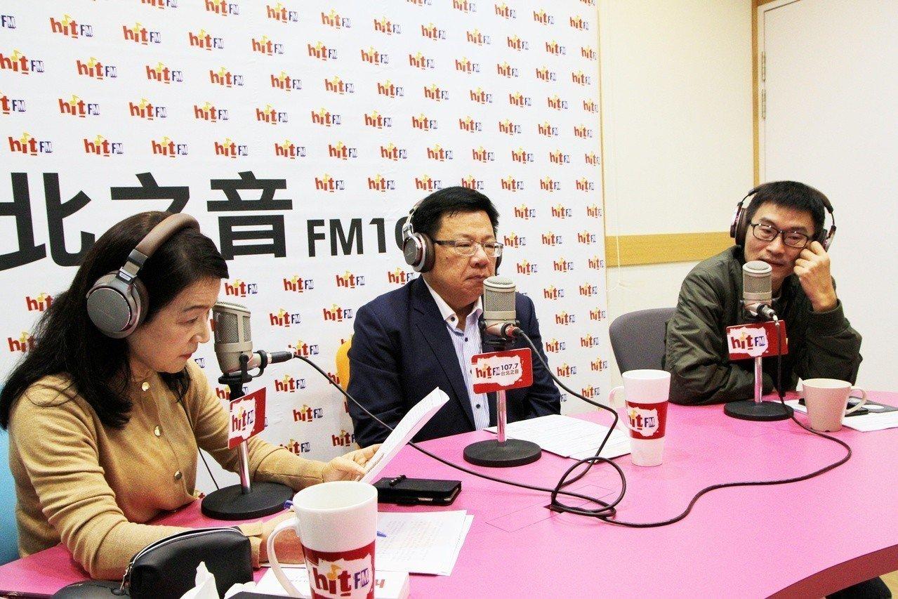 民進黨籍立委李俊俋(中)今早接受電台專訪。圖/Hit Fm《蔻蔻早餐》製作單位提...