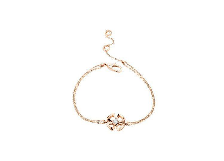 寶格麗FIOREVER 系列玫瑰金鑽石手鍊,56,800元。圖/寶格麗提供