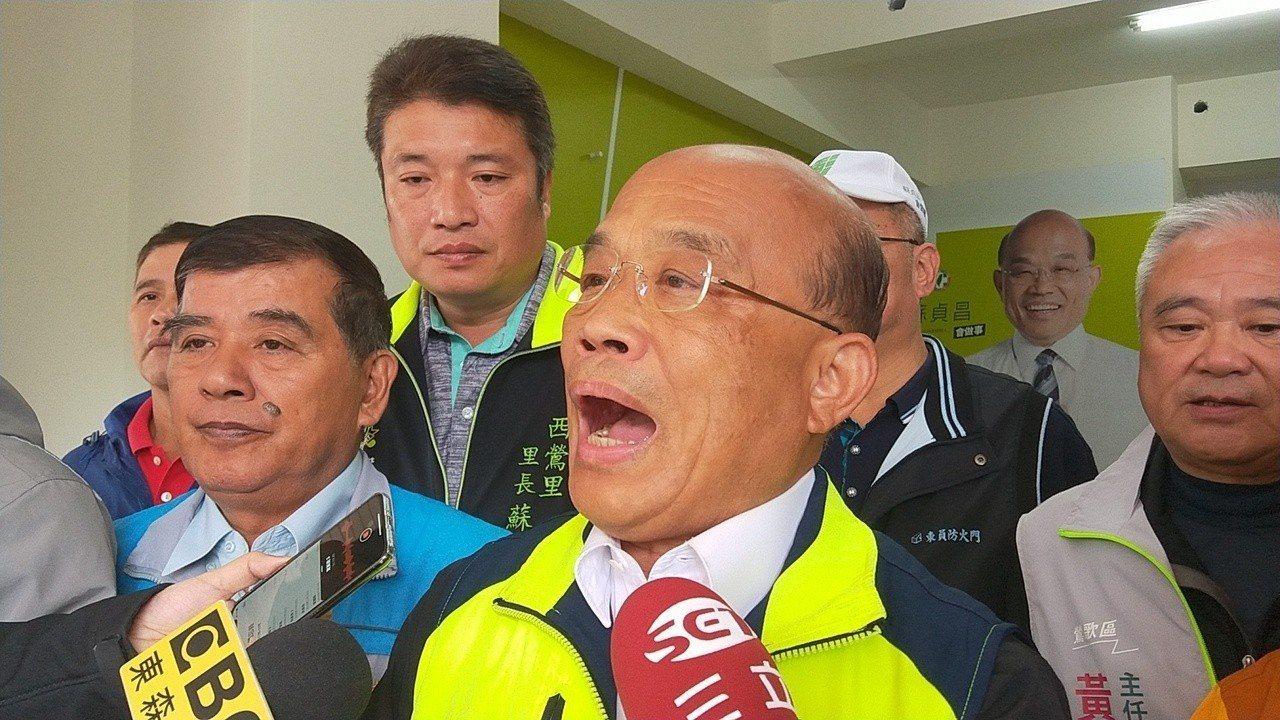蘇貞昌建議黨、政都要調整反省。記者施鴻基/攝影