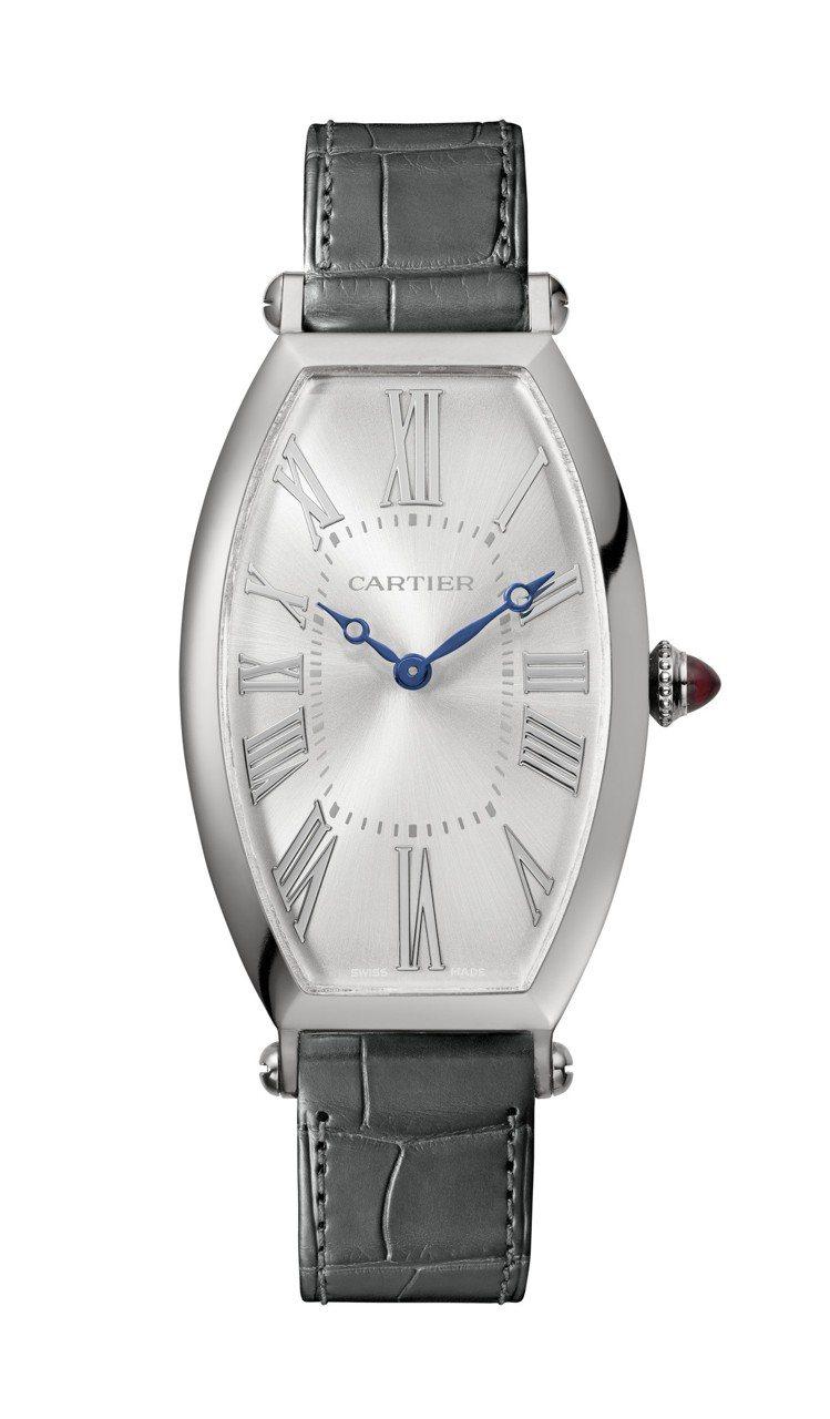 卡地亞Tonneau系列手上鍊腕表,鉑金表殼,搭載1917 MC型工作坊機芯,限...