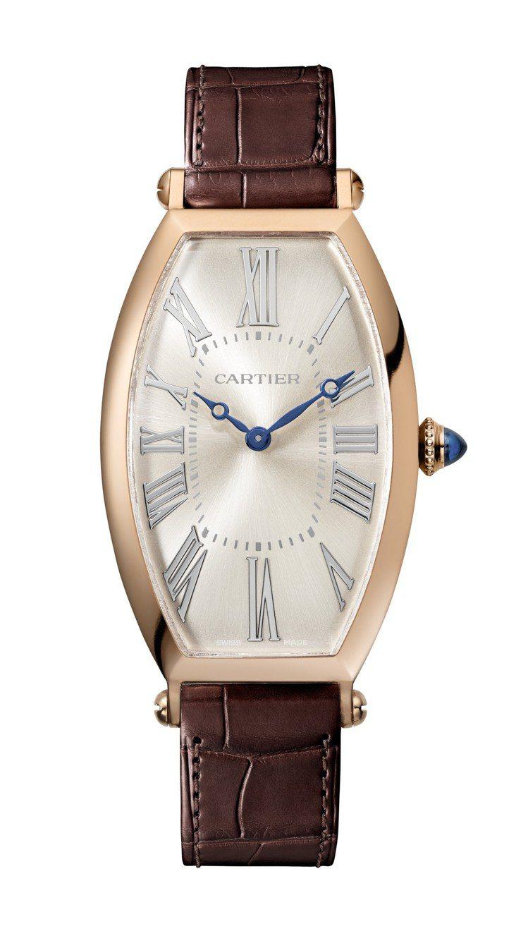 卡地亞Tonneau系列手上鍊腕表,18K金表殼,搭載1917 MC型工作坊機芯...