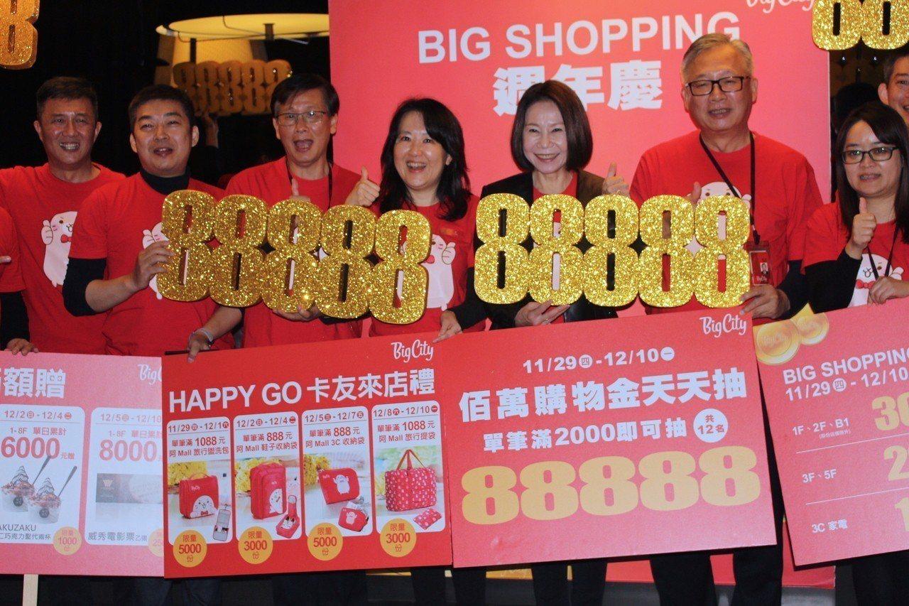 新竹遠東巨城購物中心周年慶期間當日單筆消費滿2千元,有機會獲得「巨城購物抵用券8...