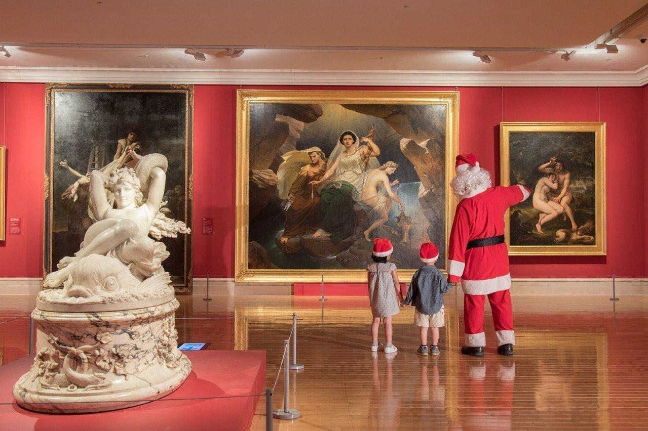 「聖誕週末」特別規劃「聖誕老公公出沒」系列活動,邀請大小朋友一起來玩。圖/奇美博...